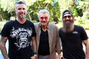 Richard Rawlings (left), Burt Reynolds and Aaron Kaufman flank.
