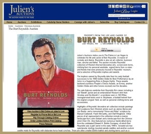 Juliens-Auctions-Icons-Idols-December-2014-Online-Catalog-Portal-Burt-Reynolds-Property-Hollywood-Props-Las-Vegas